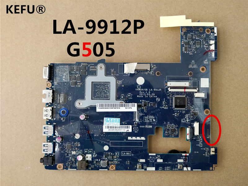 KEFU High Quality Motherboard LA-9912P 11S90003031 For LenoVo G505 Motherboard  Tested Working Good Conditon