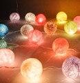 40 cores disponíveis estilo Tailândia 20 pçs/lote artesanal Bola de algodão Luzes Da Corda casamento Fada festa de NATAL Pátio Deco