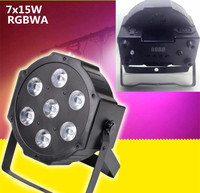 CREE RGBWA 7x15W LED Flat SlimPar Light 5in1 RGBWA LED DJ Wash Light Stage Dmx Light