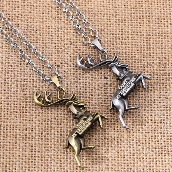 Game Of House Baratheon 2 Color Necklace Deer Signs King A Song Of Ice And Fire Personal Great GIft Wholesale Q-82 Jewelry image