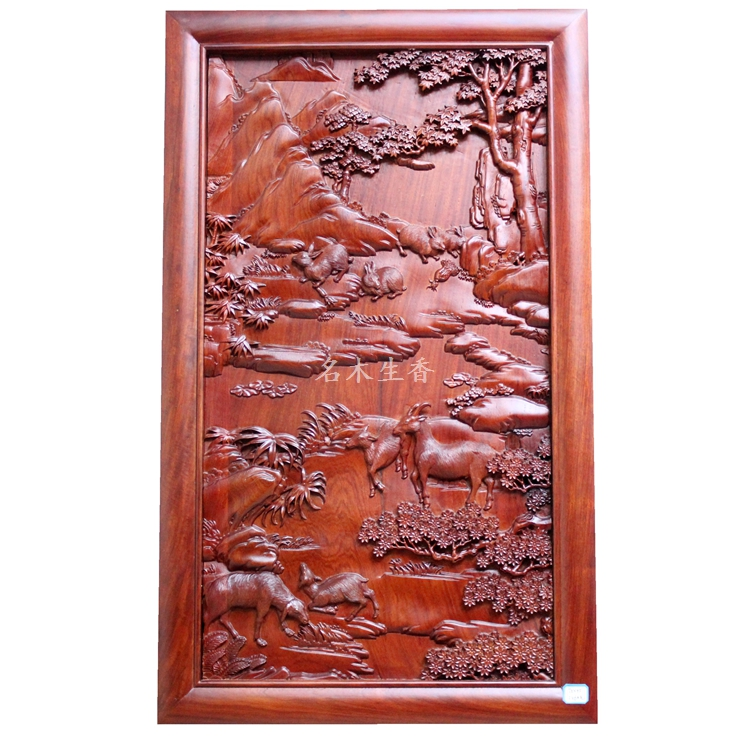 Dongyang wood carving plaque hanging boutique cross screen pendant Chinese classical background partition Burma pear sheep matrix биолаж скалпсинк набор ампул против выпадения волос 10х6 мл biolage scalpsync