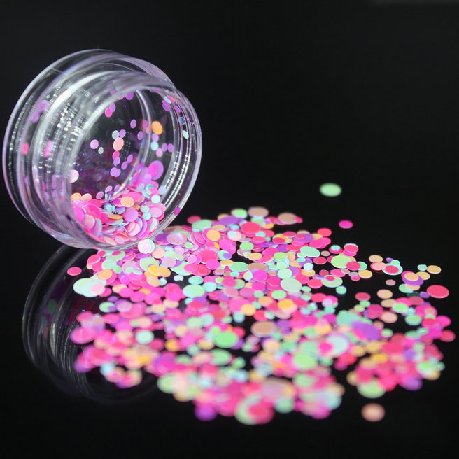 1 коробка блестящие круглые ультратонкие блестки Красочные Блестки для дизайна ногтей УФ гель 3D декоративный Маникюр DIY аксессуары NR234 - Цвет: 12