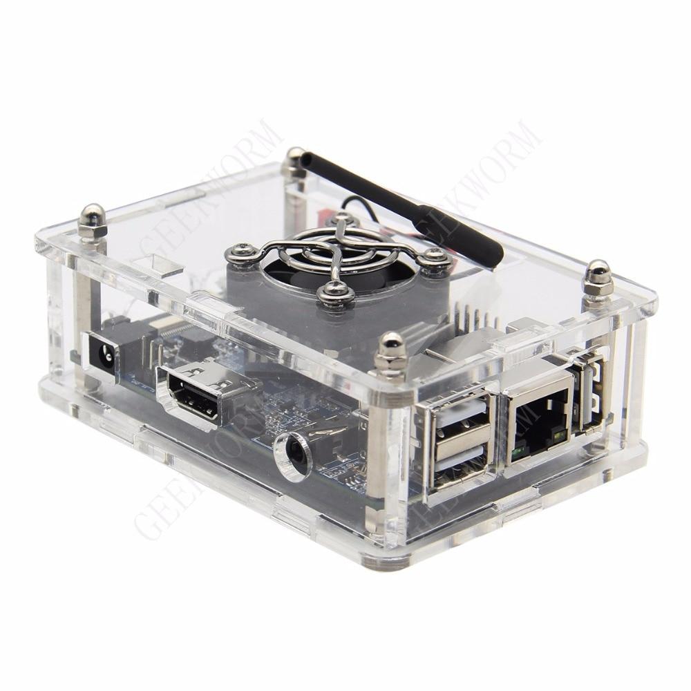 Image 2 - Orange Pi PC / PC2 / PC Plus Acrylic Case + 5V 3A EU Power Adapter + Cooling Fan + Heat Sink Start Kit Orange Pi kitorange pi kitorange pi pcorange pi pc plus -