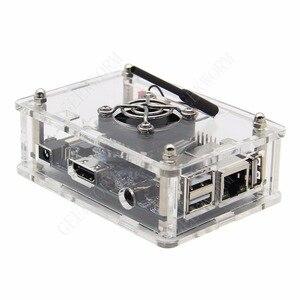 Image 2 - Orange Pi PC / PC2 / PC Plus Acrylic Case + 5V 3A EU Power Adapter + Cooling Fan + Heat Sink Start Kit Orange Pi kit