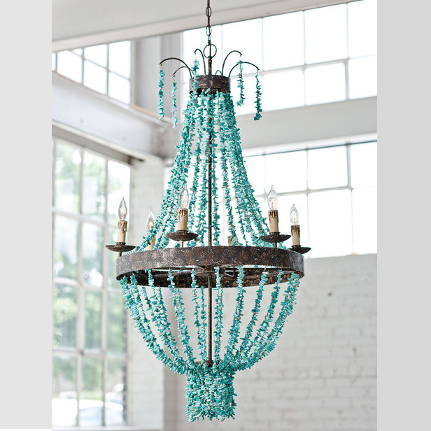 Spanish american country retro turquoise beach inspired chandelier spanish american country retro turquoise beach inspired chandelier lamp chandelier designer living room lights restaurant mozeypictures Images