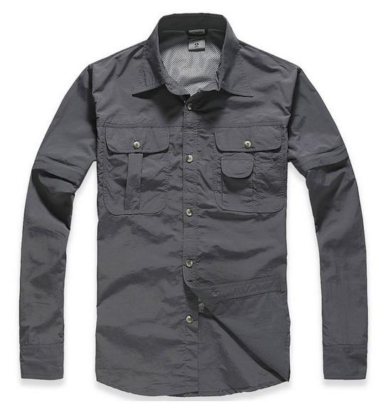 Prix pour Nouveau Printemps et Automne homme à séchage rapide shirt respirant et Anti UV mâle à séchage rapide chemise chemise de pêche randonnée en plein air chemises