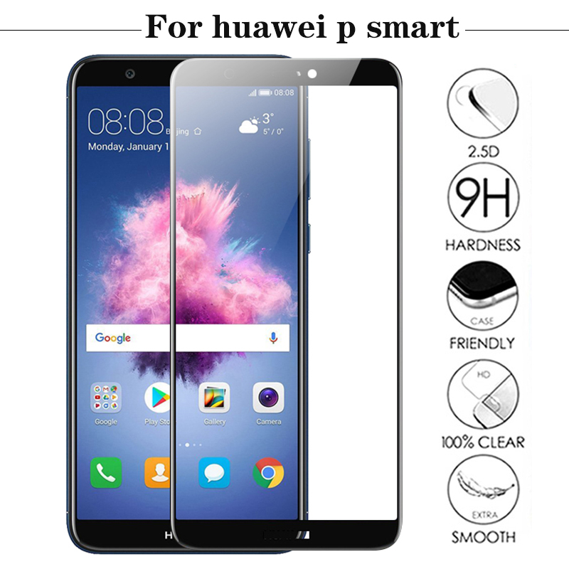 P Smart Tempered Glass For Huawei P Smart Case Dual SIM PSmart 9H Full Cover Protective Film FIG LX1 For Huawei P Smart FIG-LX1