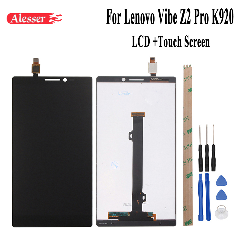Alesser 2560X1440 FHD For Lenovo Vibe Z2 Pro K920 LCD Display and Touch Screen Digitizer Assembly Repair Parts 6.0 Inch+ToolsAlesser 2560X1440 FHD For Lenovo Vibe Z2 Pro K920 LCD Display and Touch Screen Digitizer Assembly Repair Parts 6.0 Inch+Tools