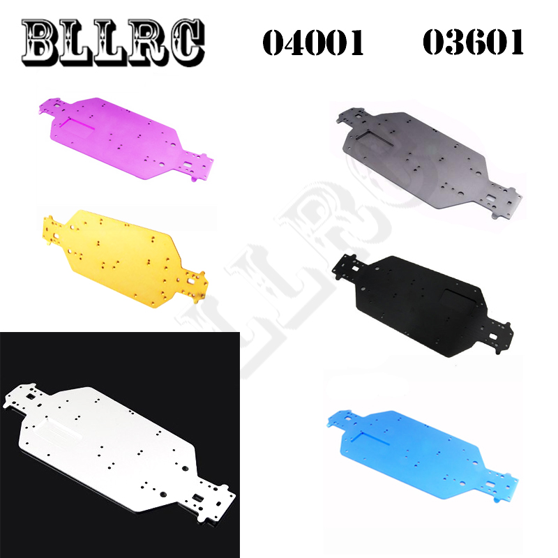 RC car 1/10 HSP 04001 03601 Aluminum Alloy Metal Chassis Upgrade Parts For Buggy Monster Bigfoot Truck 94107 94170 94118 94111