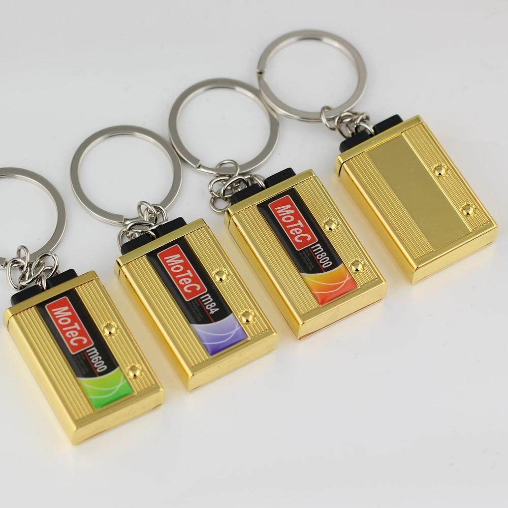 10Pcs Lot Hot Auto Part Model Car Battery Keychain Keyring Key Chain Ring Keyfob Key Holder