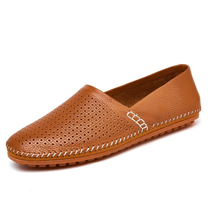 Mocassins Sapatos Deslizar De Mão À Photo photo Flats Color Sobre 2018 Conforto Superstar Couro Color Projeto Peas Homens Feitos gzHFHp