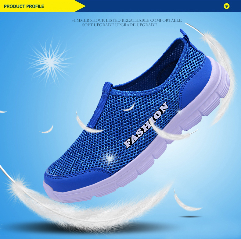 HTB1 HpTa5LrK1Rjy1zdq6ynnpXaO Summer New Women Sandals Air Mesh Women Casual Shoes Lightweight Breathable Water Slip-on Shoes Women Sneakers Sandalias Mujer