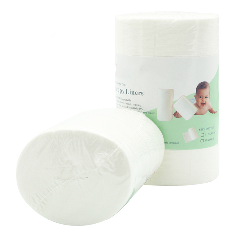 100pcs/roll Biodegradable & Flushable Diaper Liners Disposable Cloth Diaper Liners Insert For Baby Nappy Liners Disposable Cloth