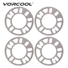 VORCOOL 4 Pcs 3/5/8/10mm Spoorverbreders Shims Plaat Frame Aluminium Stud Voor universele Auto Spoorverbreders Adapter Accessoires(China)