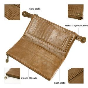 Image 3 - FLOVEME 5.5 بوصة Universale جلد طبيعي سستة محفظة حقيبة لهاتف أي فون X 8 8 زائد 7 7 زائد 6 6 ثانية 5 رجل إمرأة فتحة بطاقة الهاتف حقيبة