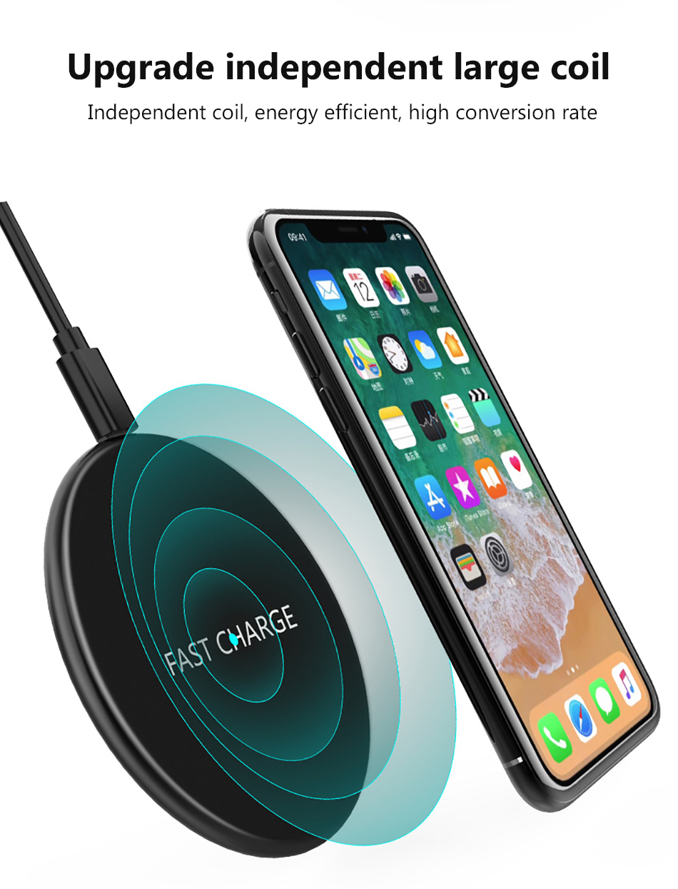 !ACCEZZ Qi Wireless Charging 7.5W 10W For Samsung Galaxy S8 S9 Plus Note 8 Universal Fast Charge For iPhone 8 Plus XS XR Charger (4)