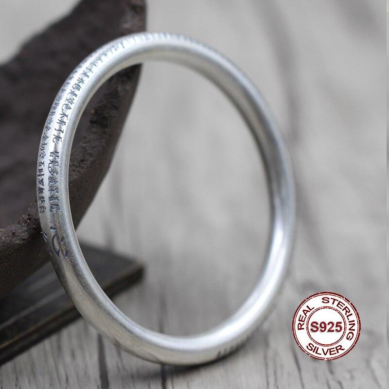S925 серебро браслет персонализированные классический стиль подразумеваемых для защиты безопасного буддийских писаний и моделирования юве...