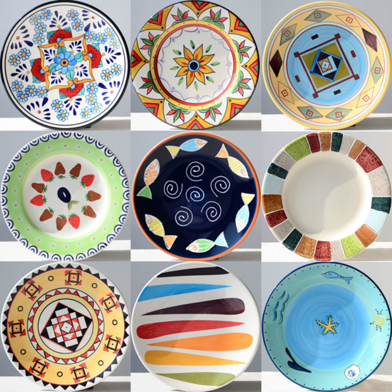 Western Style Royal Pure Coloured Drawing Ceramic Wall Plates Creative Christmas Gifts Hotel Home Decoration Round Plates-in Bowls \u0026 Plates from Home ...  sc 1 st  AliExpress.com & Western Style Royal Pure Coloured Drawing Ceramic Wall Plates ...