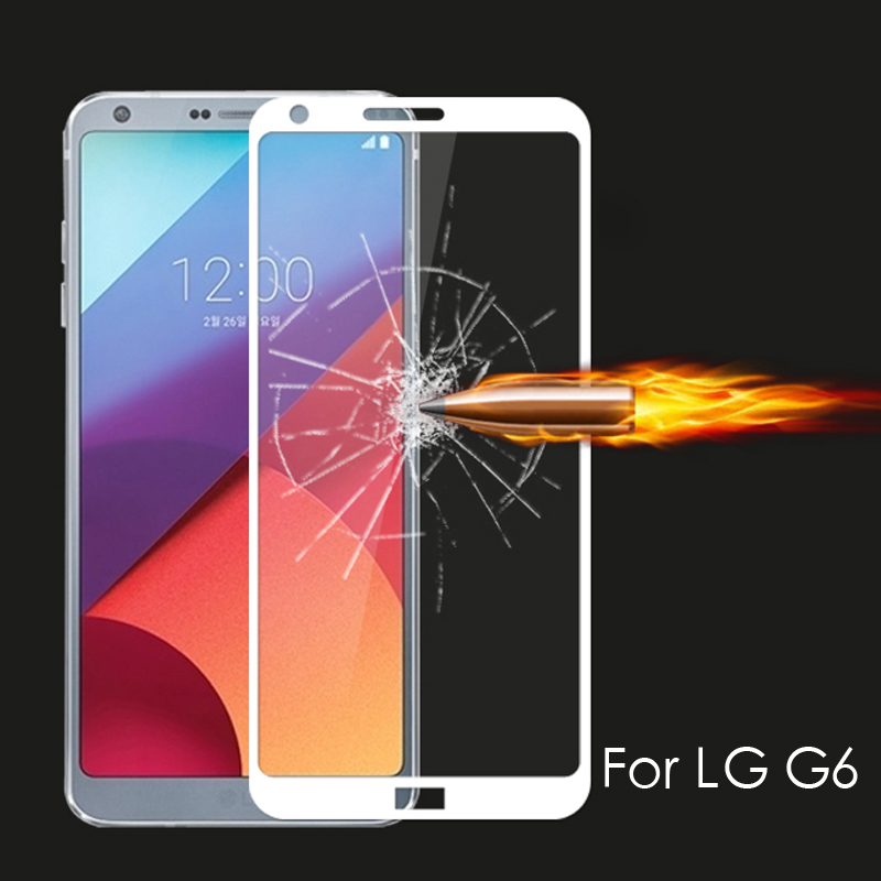 Full Cover Tempered Glass for <font><b>LG</b></font> V50 G8 K40 V40 <font><b>V30</b></font> Plus G7 G6 V20 K11 K8 K10 2018 <font><b>Screen</b></font> <font><b>Protector</b></font> Curved Edge Glass Film image
