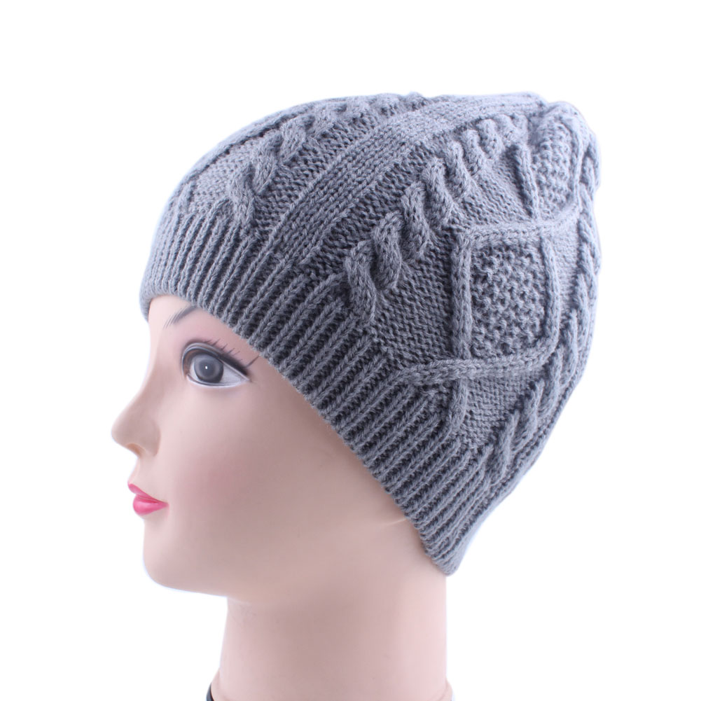 High Quality Winter Hat For unisex  Flowers Knitted Hat Europe And American Retro Wool Beanies Cap Knit Hat Plus Size  L
