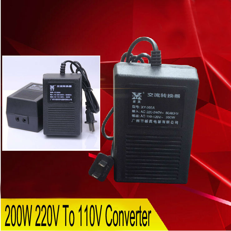 Free Shipping New XY-203A, 200W 220V TO 110V Power Converter Adapter Voltage Transformer ,POWER INVERTER beautiful gift new usb to rs232 db9 serial com convertor adapter support plc drop shipping kxl0728