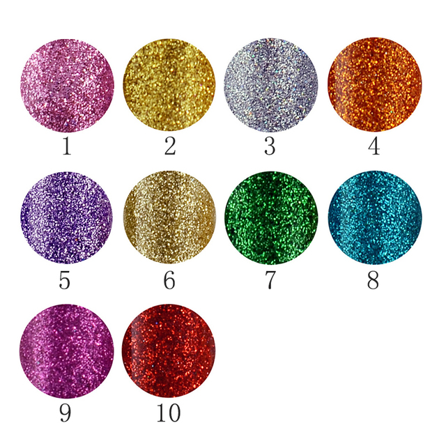 Brand New 10 Colors White Gold Glitter Eyeshadow For Easy to Wear Waterproof Liquid Eyeliner Beauty Eye Liner Makeup 1