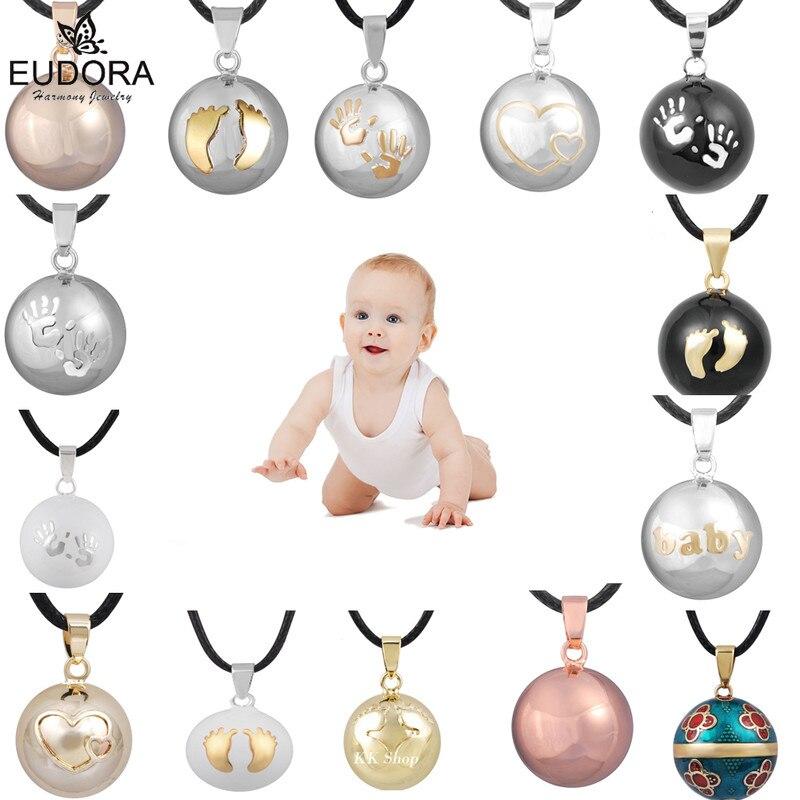 Eudora Harmonie Ball Anhänger Halskette Schwangerschaft Chime Ball Mexcian Bola Anhänger Wishing Bälle Edlen Schmuck für Frauen Beste Geschenk