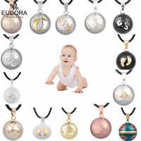 Eudora Harmony Ball Pendant Necklace Pregnancy Chime Ball Mexcian Bola Pendants Wishing Balls Fine Jewelry for Women Best Gift