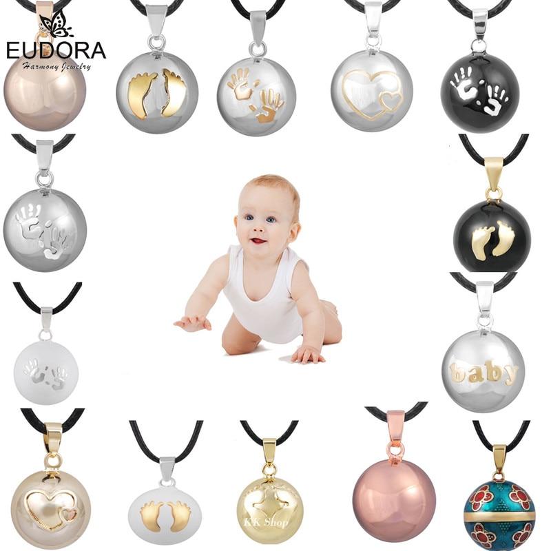Eudora harmonia bola pingente colar gravidez chime bola mexcian bola pingentes desejando bolas jóias finas para mulher melhor presente