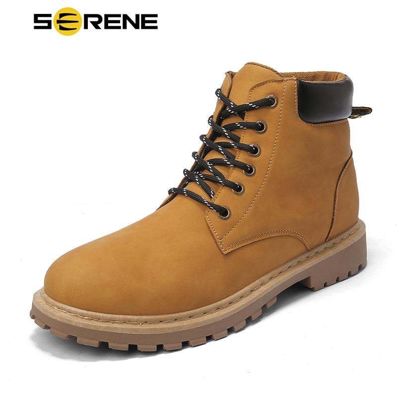 Marque sereine hommes bottes bois Westar chaussures Kanye Tamberlinrd jaune chaussure nouveau mâle Timberly Martins hommes hiver Cowboy bottine