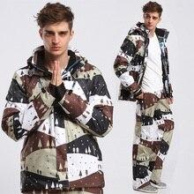 Зимний лыжный костюм, мужская куртка для сноуборда, брюки, водонепроницаемая, ветрозащитная, термальная, уличная одежда для катания на лыжах, теплые мужские лыжные комплекты
