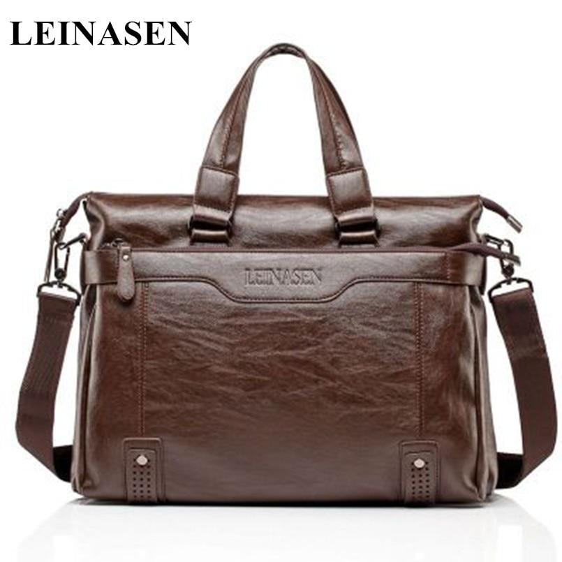 Kuum müük! 2019 Uus pehme nahast meeste kotti kohver käekott Brand Designer Meeste õlakott Laptop Bag Casual Fashion Business kott