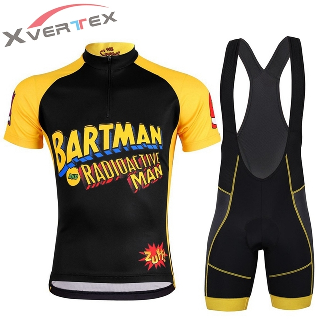TEAM SIMPSONS CYCLE WEAR MEN Bartman cycling jersey MTB cycle clothing  Sport bike racing clothes mallot ciclismo hombre CoolMax 901996f92