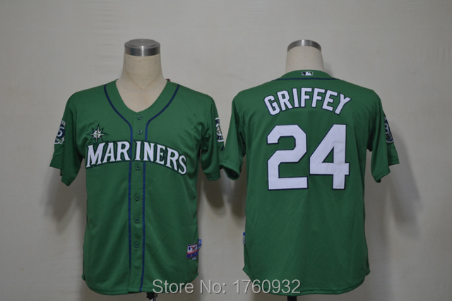 new arrival 7c2a1 af5df Base Jr Cool Seattle Us Usa Ken 24 29 8 Grey Jersey-in Green ...