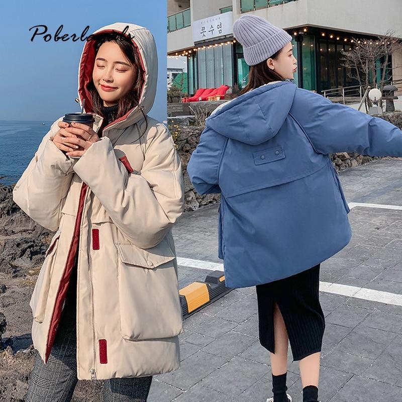 Winter jacket   parkas   2019 Autumn women Korean warm Down cotton padded jacket female bread coats clothes hooded coats jacket