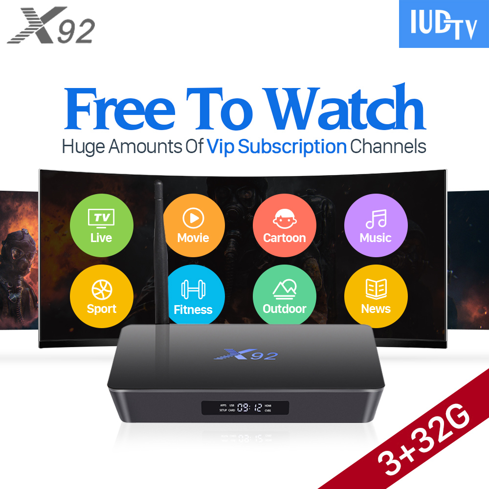 4K Europe TV Box IUDTV Subscription 3GB 32GB X92 S912 Android 6.0 TV Box Octa Core IPTV Abonnement French Arabic IPTV Top Box hot x96 tv box 2gb 16gb s905x quad core 2 4ghz wifi hdmi smart set top box with iudtv iptv abonnement french arabic iptv top box