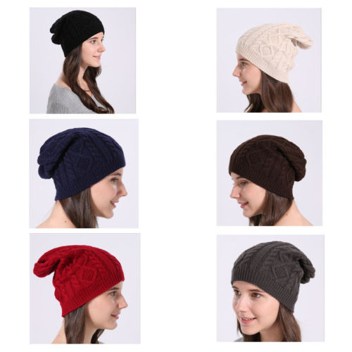 9290df55a8711b For Women Lady Cap Autumn Winter Outdoor Warm Hat Knitted Cotton Beanie  Hats Set