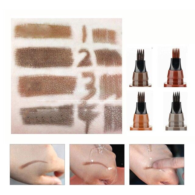 Long Lasting Microblading Eyebrow Pen Waterproof Fork Tip Eyebrow Tattoo Pencil Professional Fine Sketch Liquid Eye Brow Pencil 3