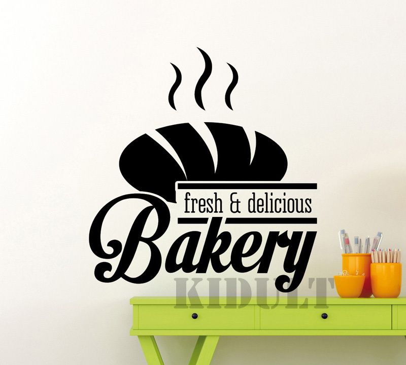 √Creativo panadería cocina café patrón Adhesivos de pared vinilo ...