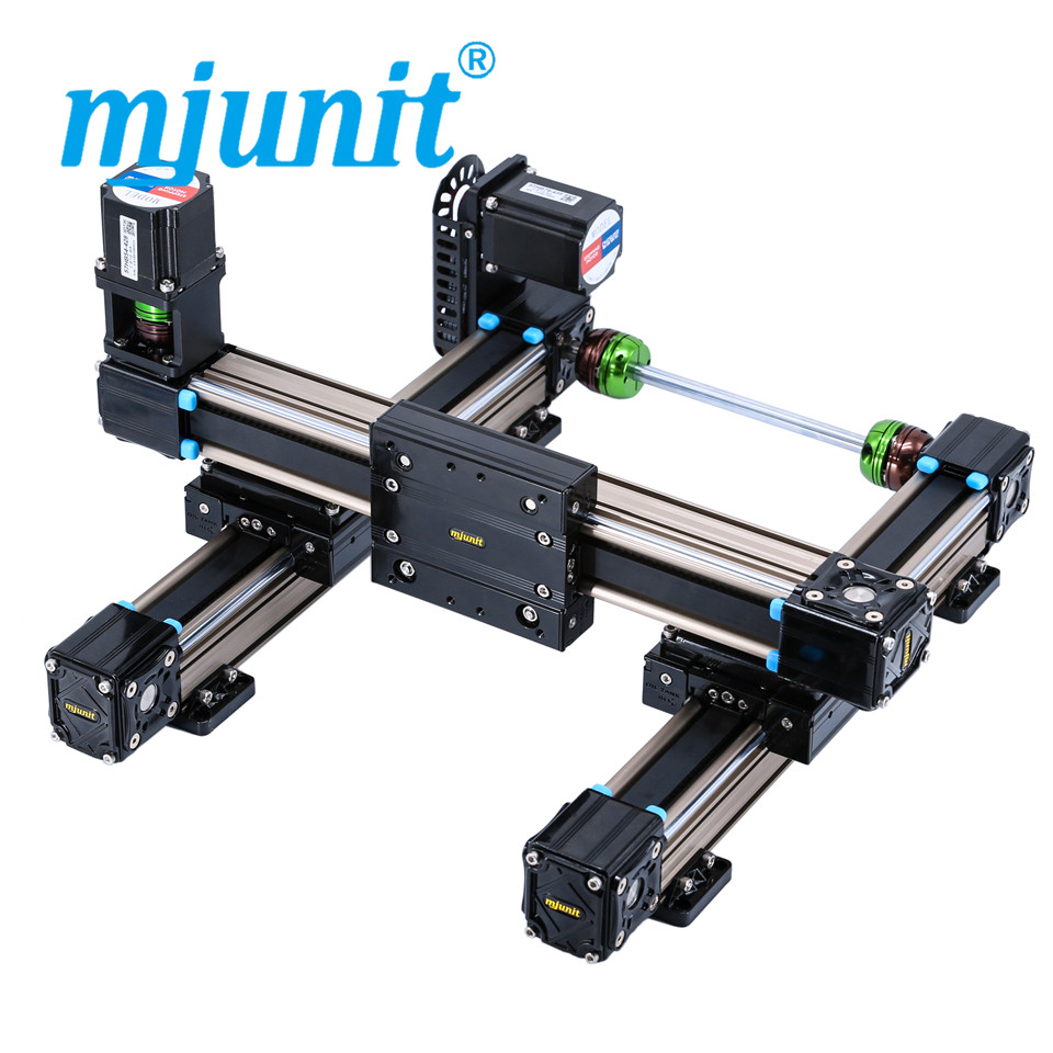 mjunit MJ50 xy linear motion guide,linear guide rail for two axis with 300x300mm stroke direct mount цена 2017
