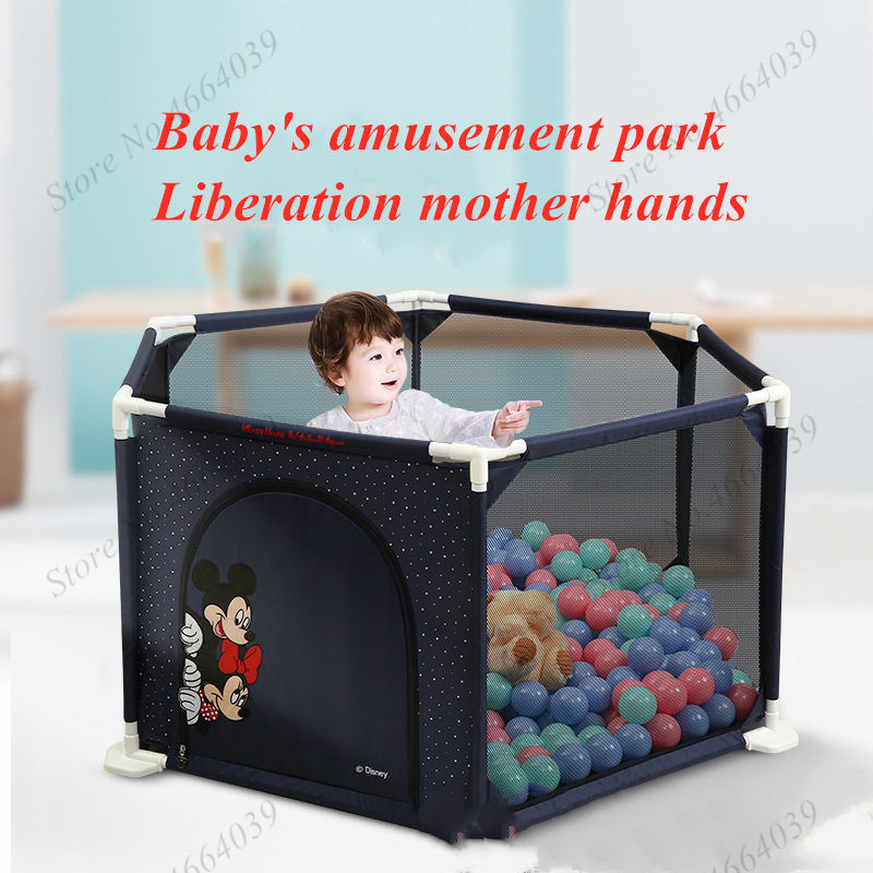 Disney Mickey Playpen for Children Playpen Pool Balls Baby Playpen For 0-6 years Baby Fence Kids PP Tent Ball Pool