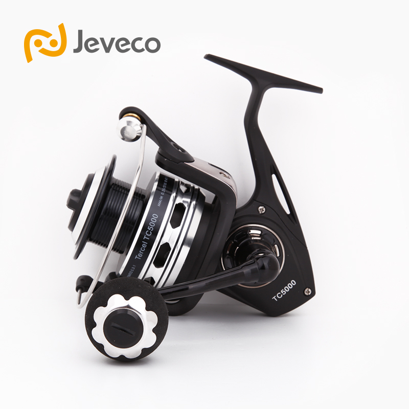 Jeveco Tercel Spinning Saltwater Fishing Reel, Full Metal 5.3:1 5+1BB Reel Fishing, 5000 Reels, Aluminum Spool + Spare Spool rover drum saltwater fishing reel pesca 6 2 1 9 1bb baitcasting saltwater sea fishing reels bait casting surfcasting drum reel