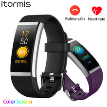 ITORMIS Smart band fitness bracelet wristband Heart rate tracker Bluetooth Pedometer Refuse Calls Remind For Android IOS PK S2
