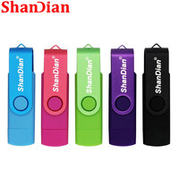 SHANDIAN free delivery Pen drive OTG high Speed drive 4g/8g/16g/32g USB 2.0 external storage double Application Creative gift