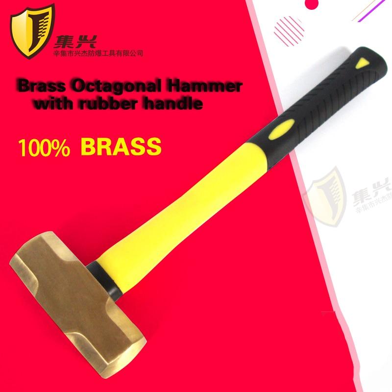 0,91 Kg/2lb Funken Messing Sledge Hammer Mit Kunststoff Griff, Sicherheit Hand Werkzeuge