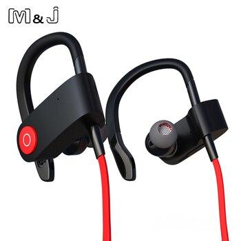 M & J M333 חדש אלחוטי Bluetooth אוזניות ספורט אוזניות ריצה Binaural אוזניות תליית אוזן עם מיקרופון עבור Iphone Sumsang