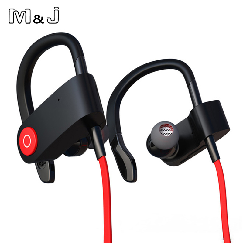 m j m333 new wireless bluetooth headset sports earphone jogging binaural headset hanging ear. Black Bedroom Furniture Sets. Home Design Ideas