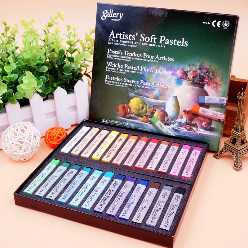 MUNGYO MPV 12/24/36/48/72 Colors Gallery Artists Soft Pastels Finest Pigment  Each Pastel Stick Is Wrapped  Art Drawing Supplies