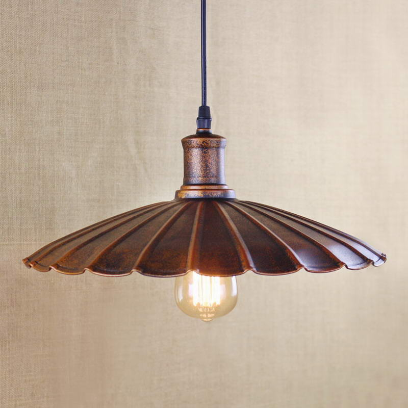 Retro Pendant Lamp /Edison Simple Vintage Metal Cover Lamp For Kitchen Lights Cabinet Living/dining Room Shop/coffee Shop/office
