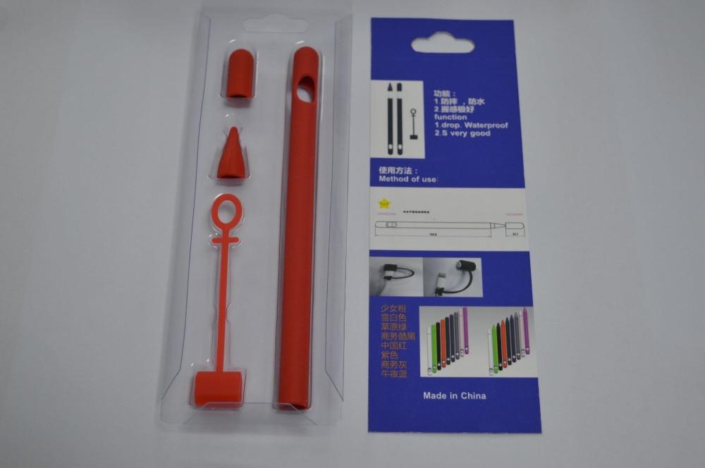 עבור apple Stylus Pen Case עבור Apple עיפרון רך קאפ מחזיק ציפורן שרוול Case סיליקון מגן Anti-Lost רצועה עבור iPad Pro עיפרון Tablet (3)